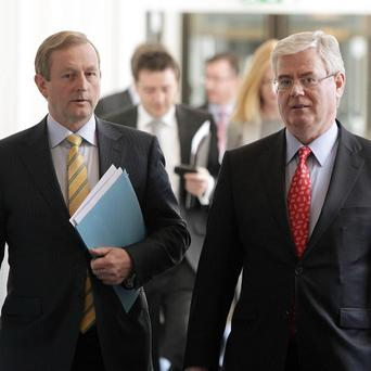 Enda Kenny and Eamon Gilmore will travel to Brussels to discuss the EU's Multi Annual Financial Framework