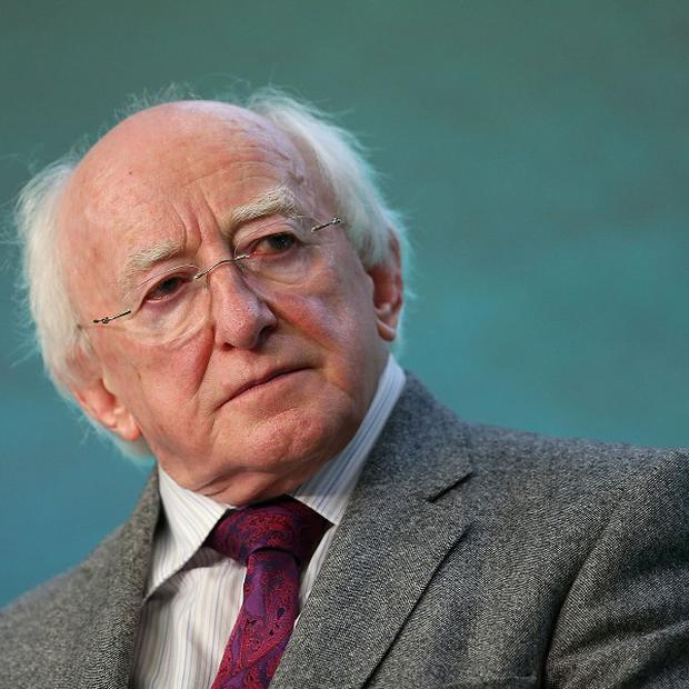 President Michael D Higgins attended a ceremony in Kilrush to remember the victims of the Great Famine