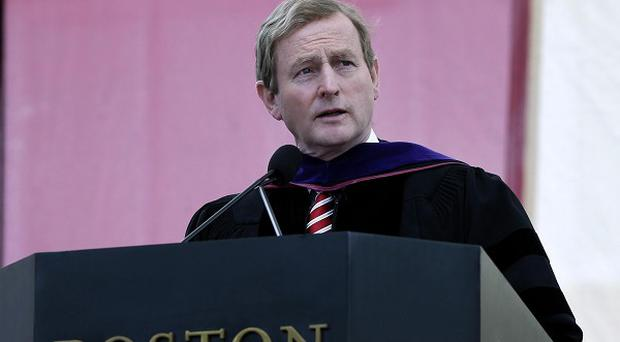 Enda Kenny speaks at Boston College after receiving an honorary Doctor of Laws degree (AP/Elise Amendola)