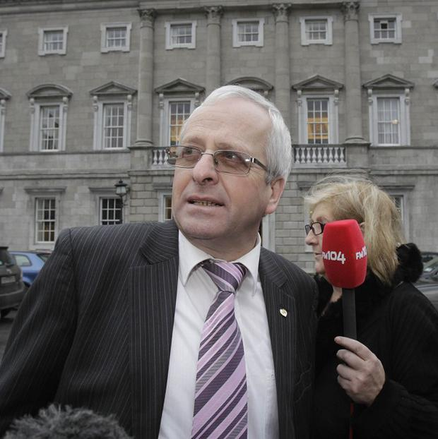 Mattie McGrath, pictured, said he was raising questions about Alan Shatter's alleged behaviour at a Garda checkpoint in the public interest