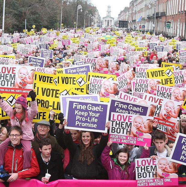 Proposed legislation which includes a provision for abortion to be carried out if a woman is suicidal has prompted demonstrations