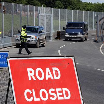 Road checks are in force along the border counties in south Donegal, Leitrim, Cavan and Monaghan ahead of the G8 summit