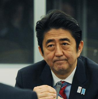 Japanese prime minister Shinzo Abe is in Dublin for talks with the Taoiseach