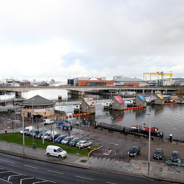 The asset management agency is financing completion of Lanyon Plaza and Soloist Building on the banks of the River Lagan
