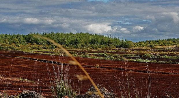 Turf cutters have protested in Co Galway against a European law barring them from digging protected boglands to obtain fuel