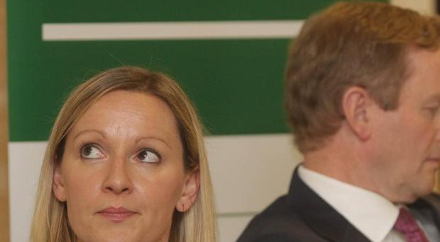 Europe Minister Lucinda Creighton and Taoiseach Enda Kenny are divided over the legislation