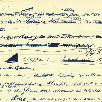 A set of Samuel Beckett jotters sold for more than a million euro at auction (Sotheby's/PA)