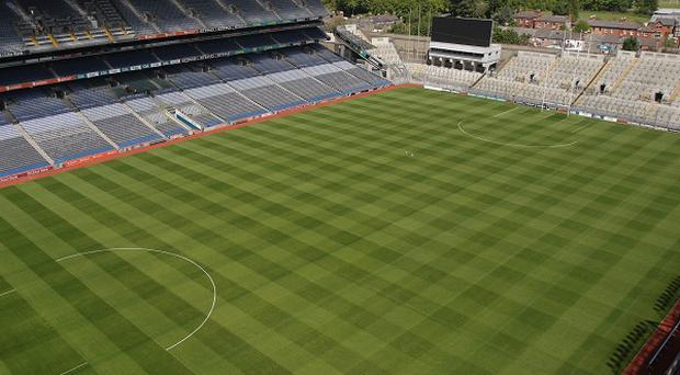A general view of the pitch as seen from the Etihad Skyline viewing platform at Croke Park Stadium, Dublin.