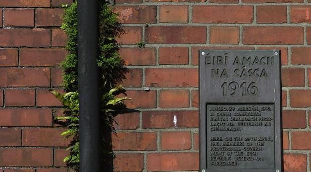 A plaque on Moore Street in Dublin marking the spot where Irish Republicans leaders were cornered in the 1916 Easter Rising