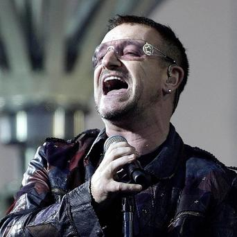 Bono was presented the Commander of the Order of Arts and Letters