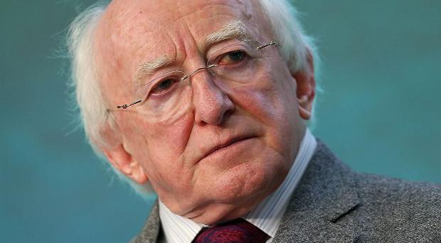 President Michael D Higgins attended a service at Iona Abbey