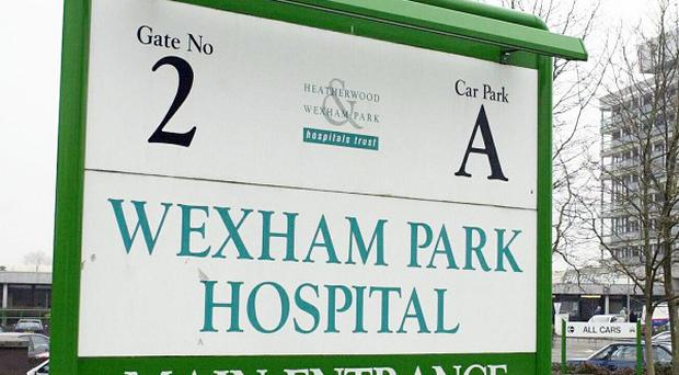A woman was pronounced dead at Wexham Park Hospital after suffering a heart attack caused by extensive internal blood loss
