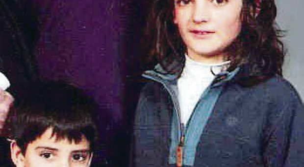 Ten-year-old Eoghan Chada with his five-year-old brother Ruairi