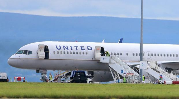 A United Airlines flight from Britain made an emergency landing in Dublin Aiport