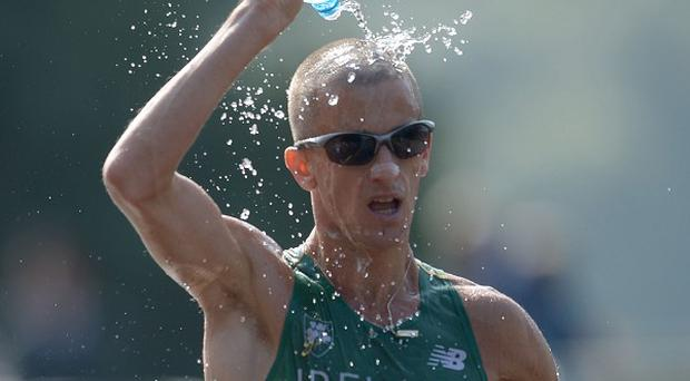 Rob Heffernan took gold in the 50km walk at the World Championships in Moscow