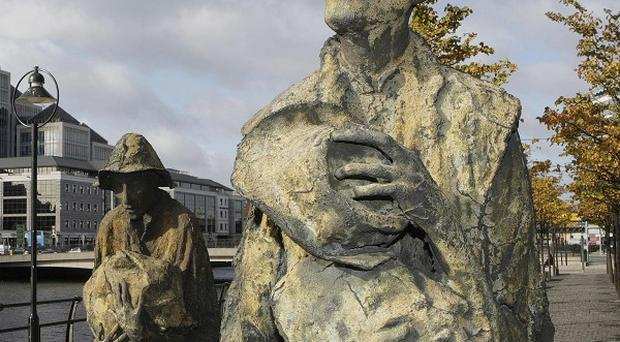 Monument to victims of the Great Famine.