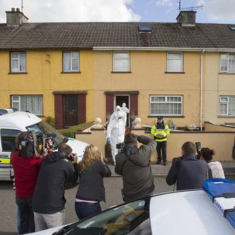 The body of Patricia Kierans is taken away from her family home in Bailieborough, Co Cavan.