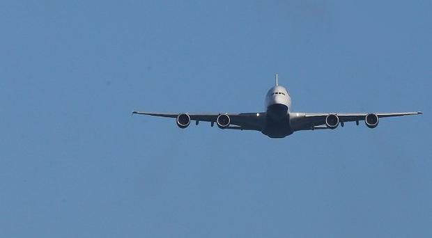 The British Airways A380 joined military, vintage and commercial carriers for FlightFest in Dublin
