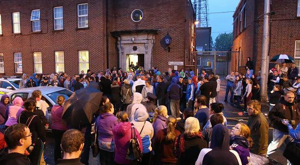A protest was held earlier this week outside Athlone Garda station
