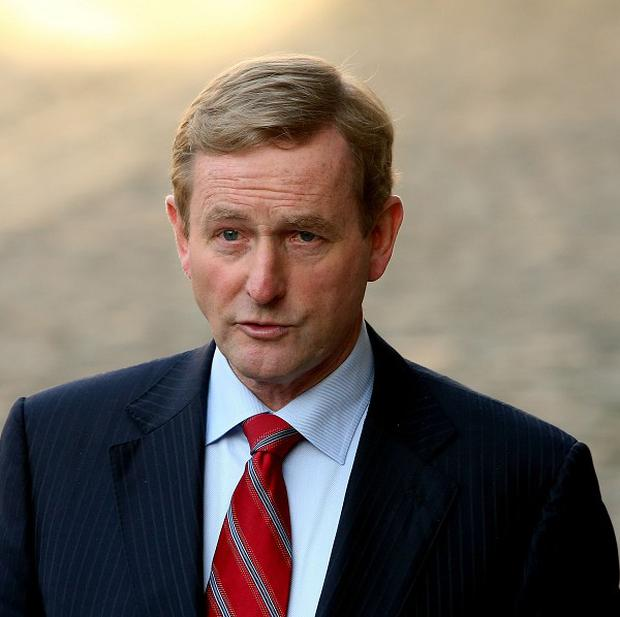 Taoiseach Enda Kenny at Dublin Castle as the Government suffered defeat in a referendum to abolish the country's upper house of parliament