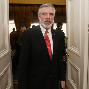 Gerry Adams has urged the Taoiseach to study Sinn Fein's alternative budget proposals and invited him to plagiarise them