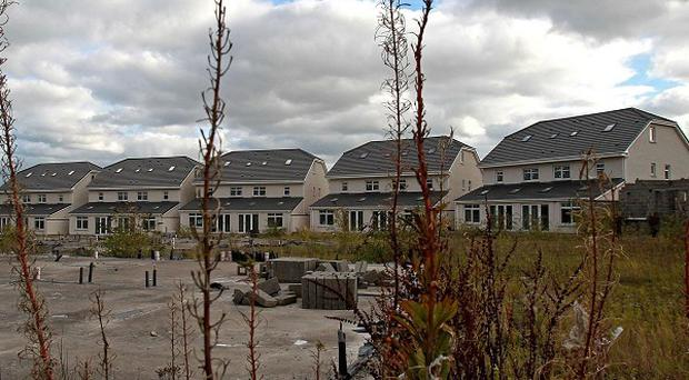 A so-called 'ghost estate' in North County Dublin