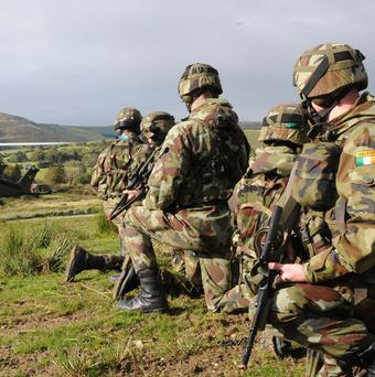 Irish and British forces will work together on certain military training, exercises, procurement and reforms