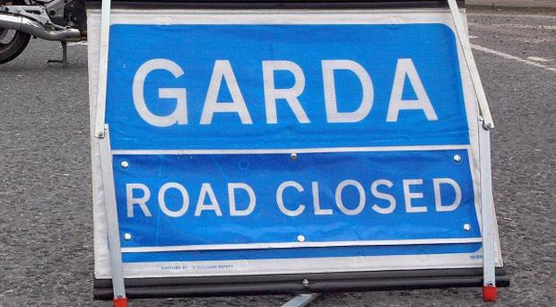 Garda are investigating after a man died when his car crashed into a traffic light