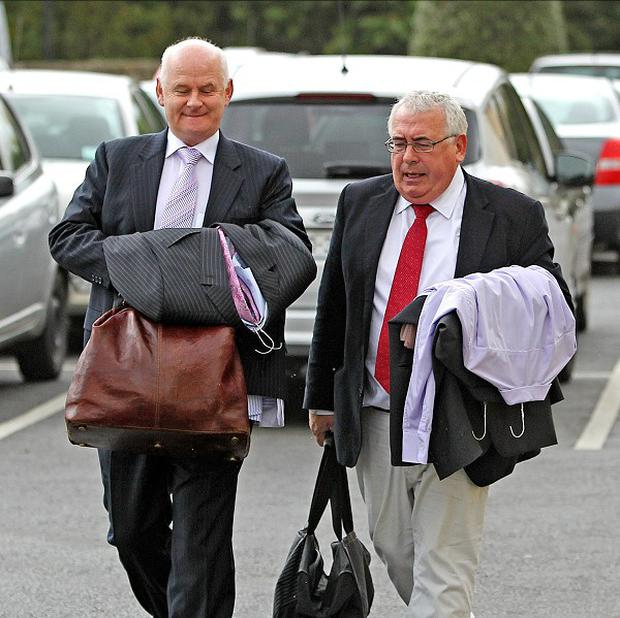 Senator Jimmy Harte, left, is fighting for his life after a fall