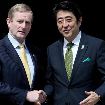 Taoiseach Enda Kenny with The Prime Minister of Japan Shinzo Abe