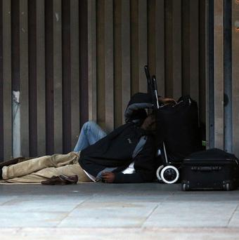 Figures show that homelessness in Dublin is on the rise