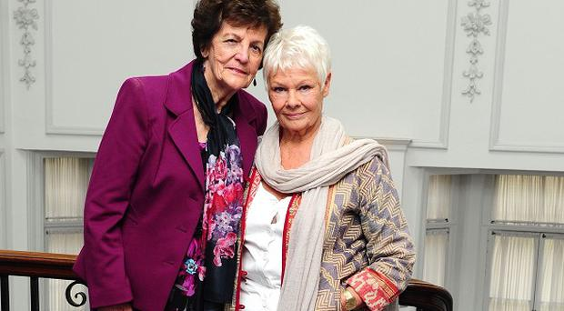 Philomena Lee with Dame Judi Dench, the star of the film about her