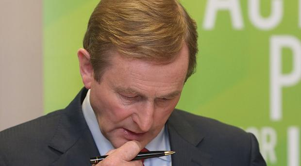 Enda Kenny described the economic meltdown as the greatest crisis Ireland has endured since the famine
