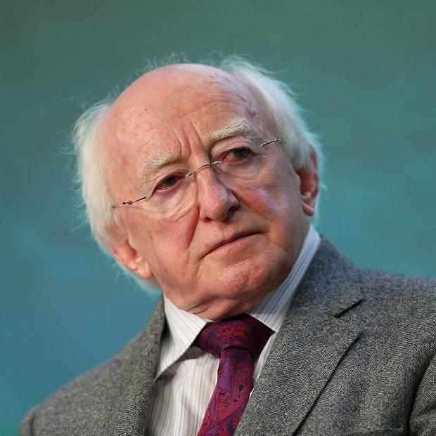 Michael D Higgins said his next year would be dedicated to the service of the people
