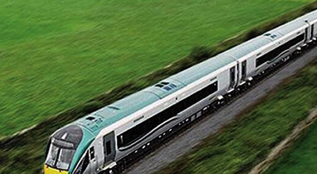 A landslide has closed a railway line, Irish Rail said