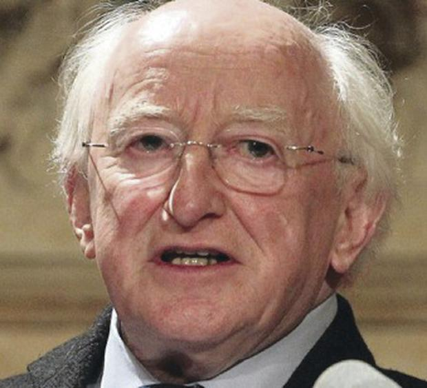 Spiritual: Irish president Michael D Higgins