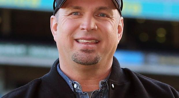 Garth Brooks at Croke Park stadium, Dublin, during an announcement that he will play at the stadium in July