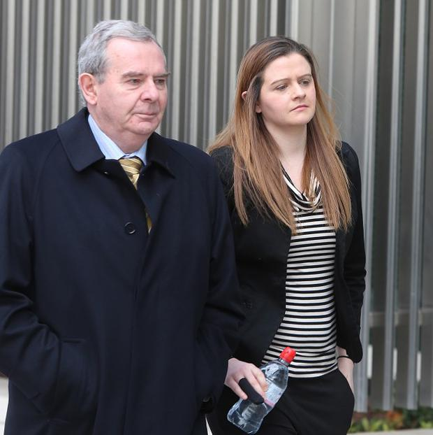Sean Quinn and his daughter Brenda arrive at the Circuit Criminal Court, Criminal Courts of Justice in Dublin