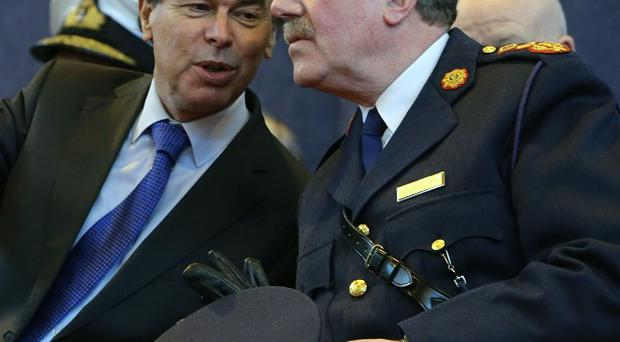 Justice Minister Alan Shatter, left, pictured with Garda commissioner Martin Callinan