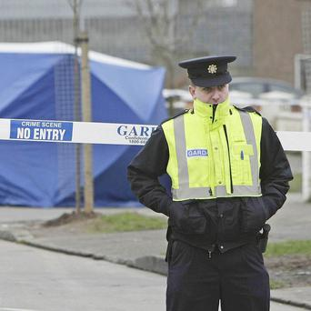 The remains of a man in his early 40s were found at the disused premises on North Wall Quay in Dublin, Garda said