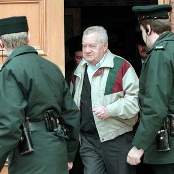 Brendan Smyth leaving a court hearing.