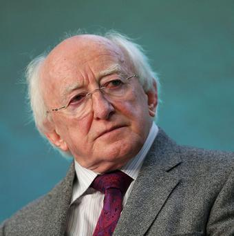 President Michael D Higgins is due to visit Britain