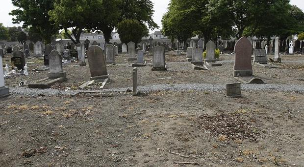 The unmarked graves were found at Mount Jerome Cemetery.