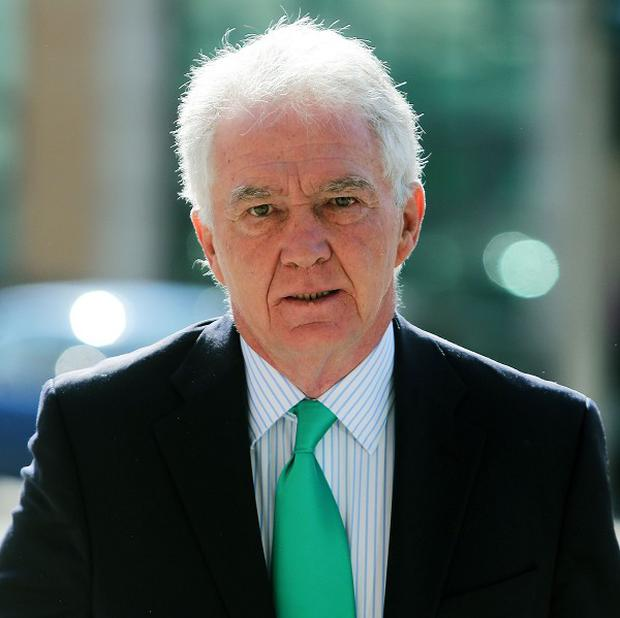 Sean FitzPatrick, the former chairman and one-time chief executive of Anglo Irish Bank, arrives at the Circuit Criminal Court, Dublin