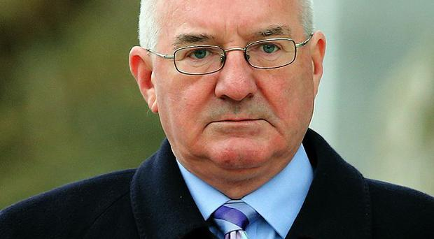 Former Anglo Irish Bank executive Willie McAteer arrives at the Circuit Criminal court, Dublin