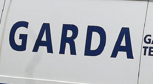 The Garda motorcycle was rammed by a stolen van