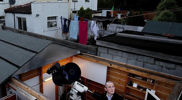 Dave Grennan in his back garden observatory in Raheny, north Dublin