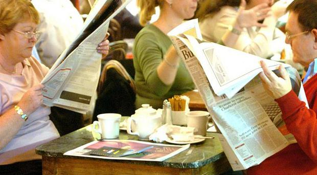 Customers in the Grafton Street Bewley's Cafe
