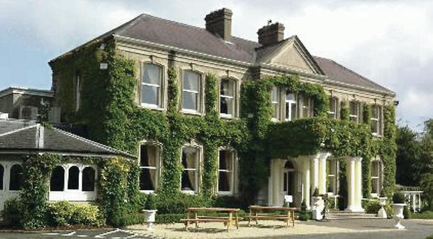 A wedding party was forced to evacuate Finnstown hotel after a car bomb was found in the grounds