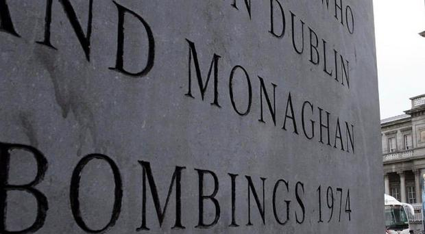 A memorial to those who died in the Dublin and Monaghan bombings stands opposite Connelly Station in Dublin city centre